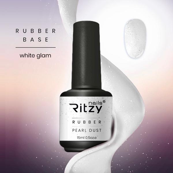 NEW! WHITE GLAM Rubber Gel 15ml