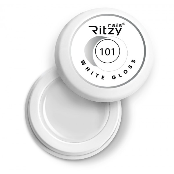 Ritzy Nails Gel Paint WHITE GLOSS 101