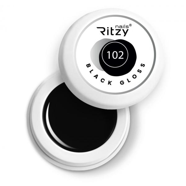 Ritzy Nails Gel Paint BLACK GLOSS 102