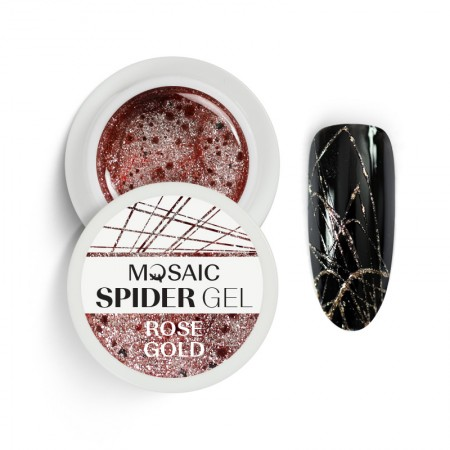 Mosaic SPIDER gel rose gold