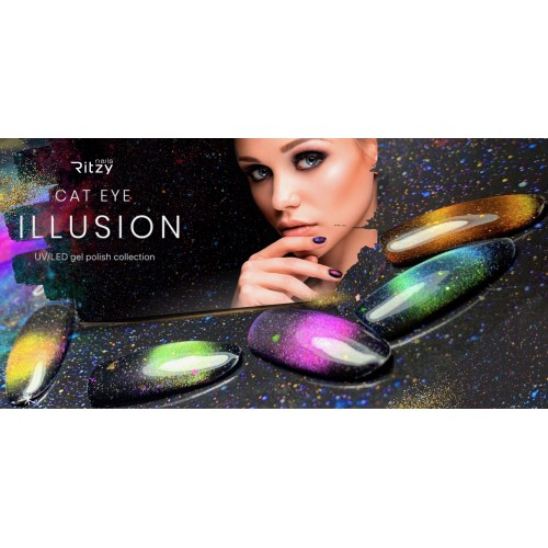 ILLUSION 9D Cat Eye Collection (10 colours & free magnet)