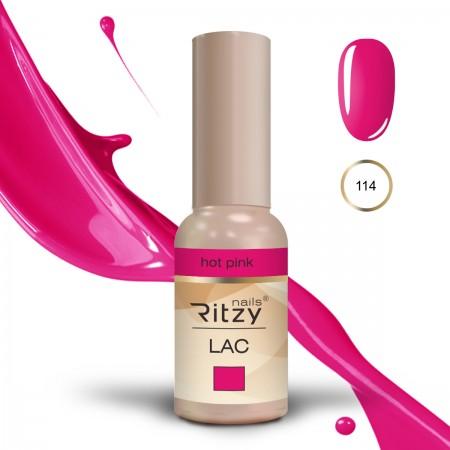 RITZY LAC Hot pink 114 Gel Polish