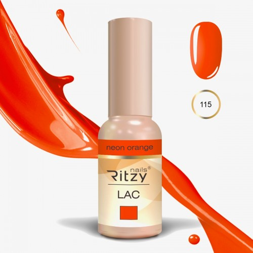 RITZY LAC Neon Orange 115 Gel Polish