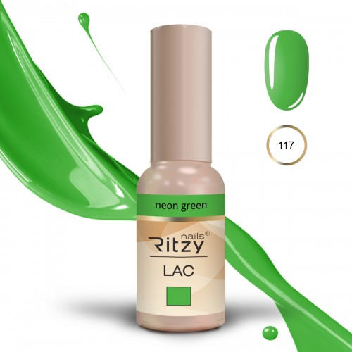 RITZY LAC Neon Green 117 Gel Polish