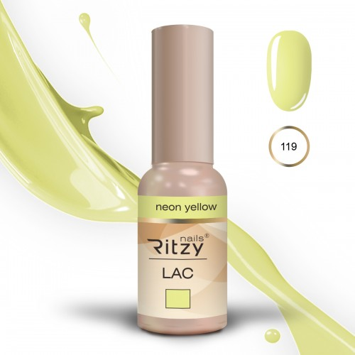 RITZY LAC Neon Yellow 119 Gel Polish