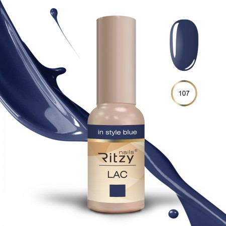 RITZY LAC In Style Blue 107  Gel Polish