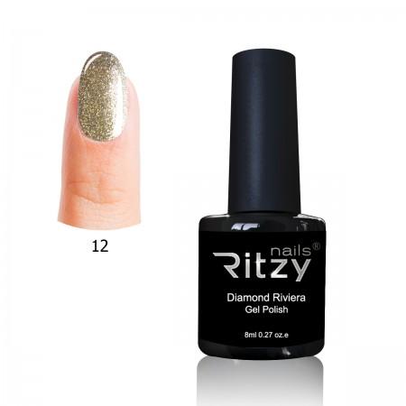 """Diamond Riviera"" Gel Polish 8ml n.12 Tiffany Gold"