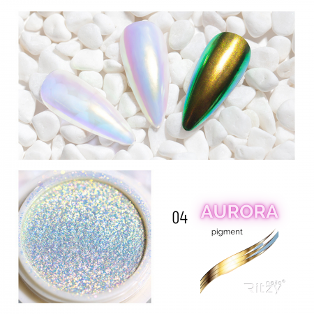 AURORA (unicorn) nail powder 04 GOLDEN RAINBOW 0.3g
