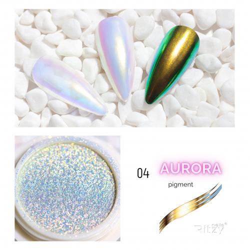 AURORA (unicorn) nail powder 04 GOLDEN RAINBOW 0.3g