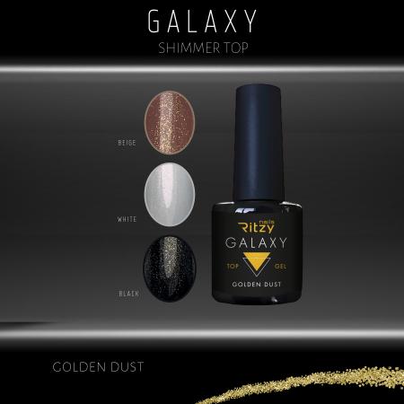 GALAXY shimmer top gel GOLDEN DUST 8ml