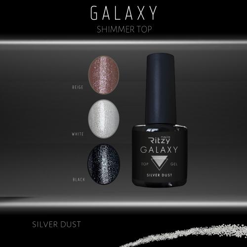 GALAXY shimmer top gel SILVER DUST 8ml