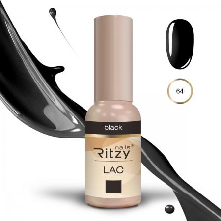 RITZY LAC Black 64 gel polish