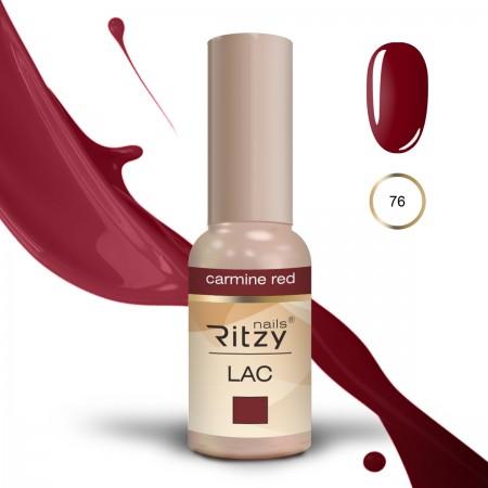 RITZY LAC Carmine Red 76 Gel Polish
