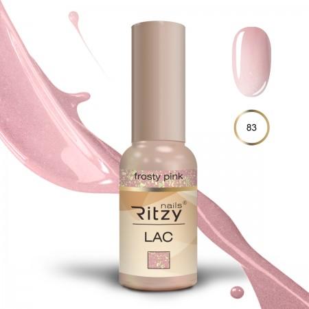 RITZY LAC Frosty Pink 84 Gel Polish