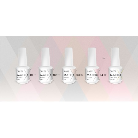 Matrix 5 super set ( 4 builder gel and top gel)