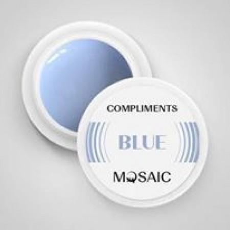 Compliments BLUE gel paint