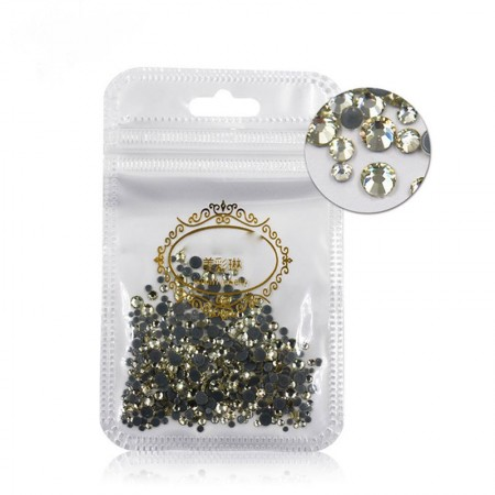 400 psc high quality diamond (mix size) silver