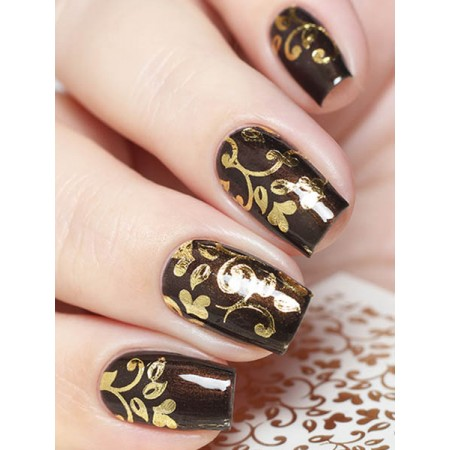 """Exquisite"" Slider Nail Art Decoration F002 gold"