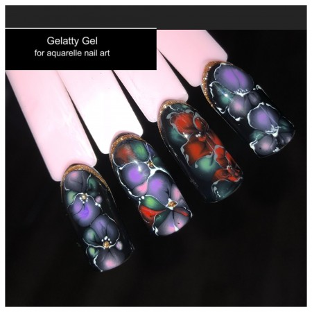 """Gelatty"" Aquarelle Gel Set (7 colours and Base)"