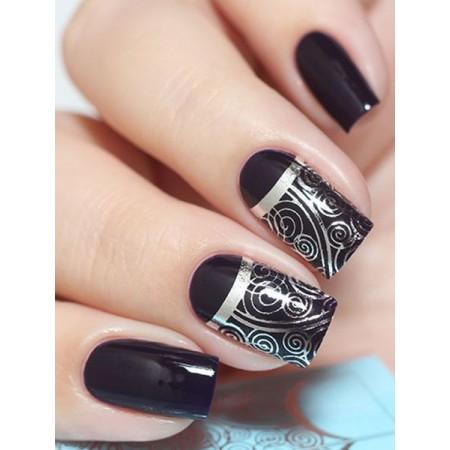 """Exquisite"" Slider Nail Art Decoration F061 silver"