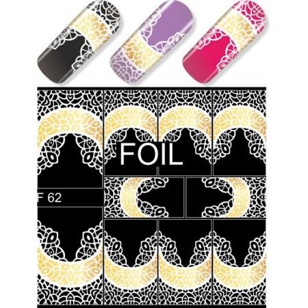 """Exquisite"" Slider Nail Art Decoration F062"