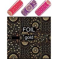 """Exquisite"" Slider Nail Art Decoration F073 gold"