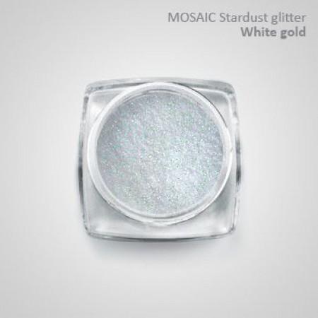 """""""Mosaic"""" Holo Stardust Glitter White Gold"""