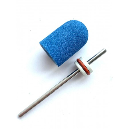 Pedicure bit with a removable composite cap BLUE Fine C13B